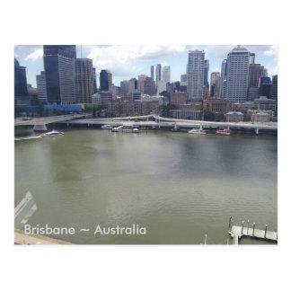 Brisbane River, Brisbane, Queensland, Australia (A Postcard