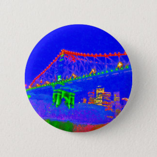 BRISBANE STOREY BRIDGE AUSTRALIA ART EFFECTS PINBACK BUTTON