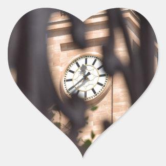 BRISBANE TOWN CLOCK QUEENSLAND AUSTRALIA HEART STICKER