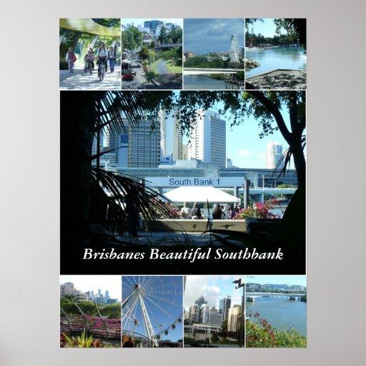 Brisbanes Southbank hermoso Póster