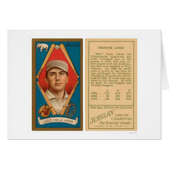 Briscoe Lord Athletics Baseball 1911 Card
