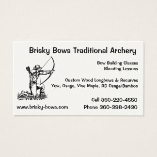 Brisky Bows Archery Business Card