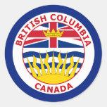 BRISTISH COLUMBIA, CANADA CLASSIC ROUND STICKER