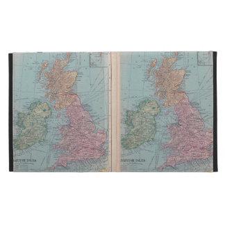 Bristish Isles Vintage Map Ipad Case