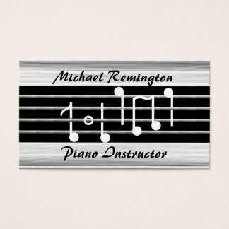 Bristles Musical Notes Custom Business Card