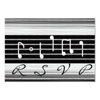 Bristles Musical Notes RSVP Card