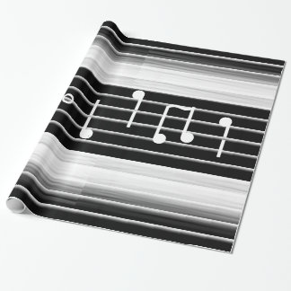 Bristles Musical Notes Wrapping Paper