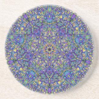 Bristol Blue Glass Pattern Coaster