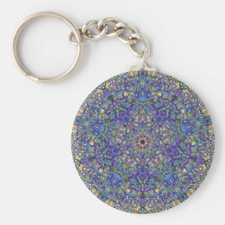 Bristol Blue Glass Pattern Keychain