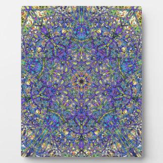 Bristol Blue Glass Pattern Plaque