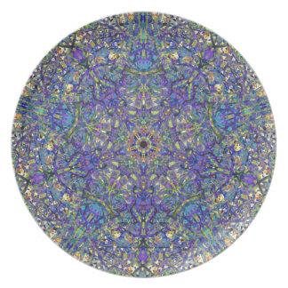 Bristol Blue Glass Pattern Plate