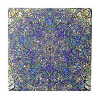 Bristol Blue Glass Pattern Tile