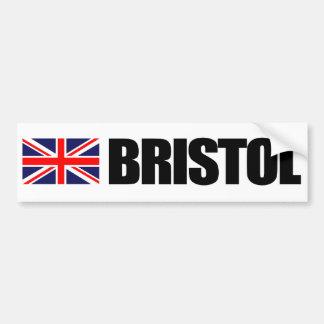 Bristol, British Flag Bumper Sticker