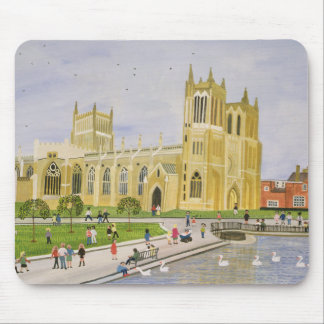 Bristol Cathedral and College Green 1989 Mouse Pad