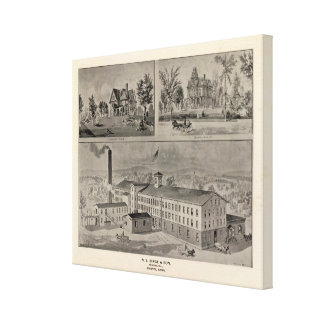 Bristol Connecticut Illustration Canvas Print