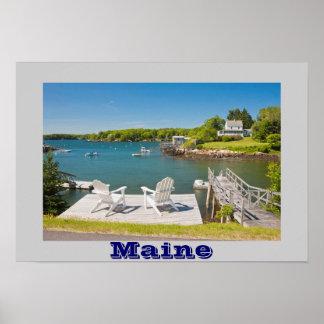 Bristol del sur en la costa de Maine Impresiones
