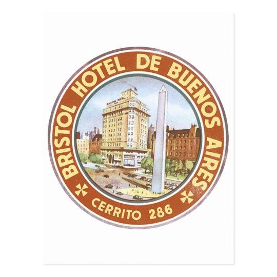 Bristol Hotel of Buenos Aires Postcard