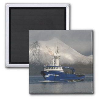 Bristol Mariner, Crab Boat in Dutch Harbor, Alaska Magnet