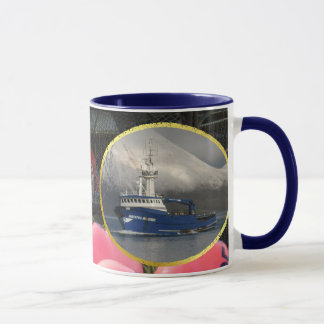 Bristol Mariner, Crab Boat in Dutch Harbor, Alaska Mug
