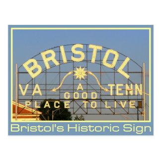 Bristol, muestra histórica del VA y del TN Tarjeta Postal