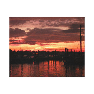 Bristol Rhode Island sunset Canvas Print