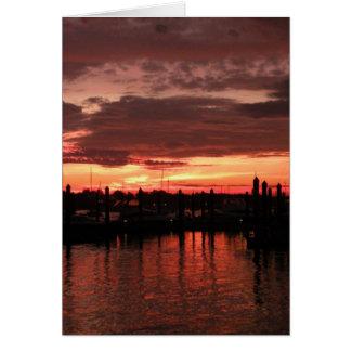 Bristol Rhode Island sunset Card