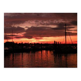 Bristol Rhode Island sunset Postcard
