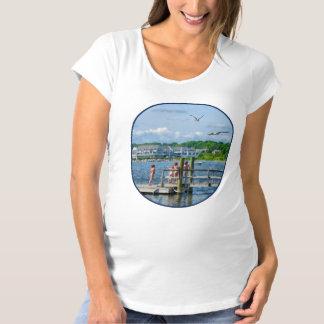 Bristol RI - Little Girls Watching Seagulls Shirt