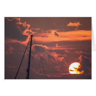 Bristol RI Sunset Card