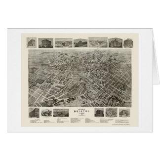 Bristol, TN Panoramic Map - 1912 Card