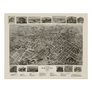 Bristol, TN Panoramic Map - 1912 Poster