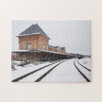 Bristol Train Station in the Snow Jigsaw Puzzle