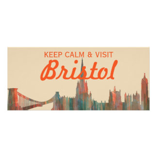 BRISTOL, UK SKYLINE RACK CARD