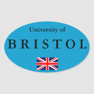 Bristol University* European Oval Sticker