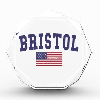 Bristol US Flag Acrylic Award