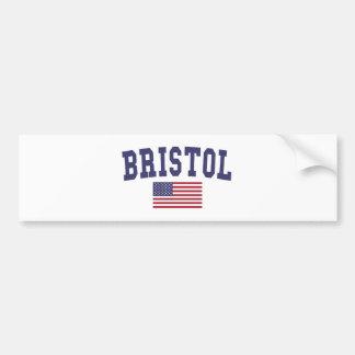 Bristol US Flag Bumper Sticker