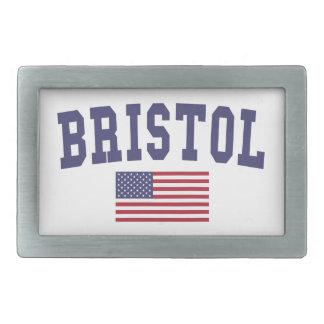 Bristol US Flag Rectangular Belt Buckle