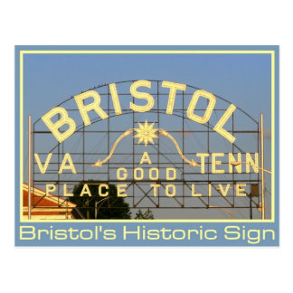 Bristol, VA & TN Historic Sign Postcard
