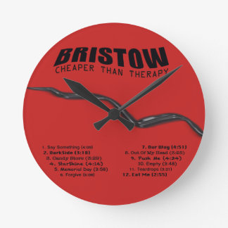BRISTOW, Cheaper Than Therapy CD Clock