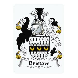 Bristow Family Crest 5x7 Paper Invitation Card
