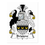 Bristow Family Crest Post Card
