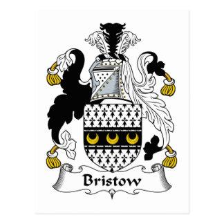 Bristow Family Crest Postcard