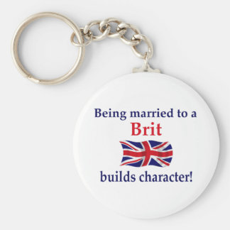 Brit Builds Character Basic Round Button Keychain