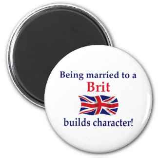 Brit Builds Character 2 Inch Round Magnet