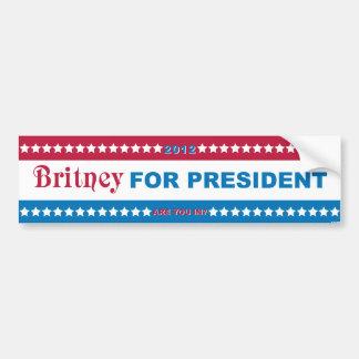 Brit for President Bumper Sticker