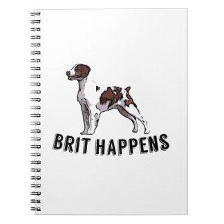 Brit Happens - Brittany Spiral Note Books