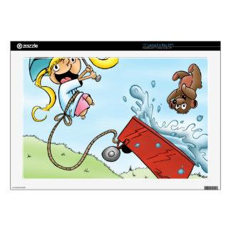 "Brit & Mr. Bear! 17"" Laptop Decal"