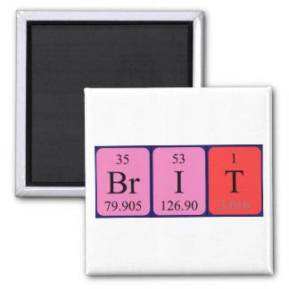 Brit periodic table name magnet