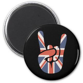 Brit Rock Hand 2 Inch Round Magnet