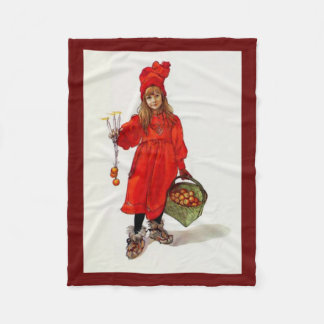 """Brita as Iduna"" - C. Larsson - Christmas Blanket"